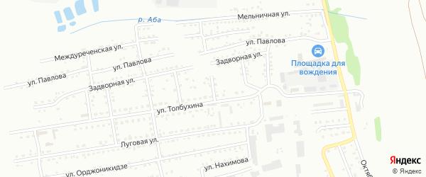 2-й Задворный проезд на карте Киселевска с номерами домов