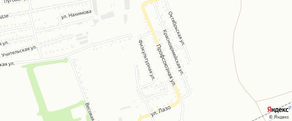 Физкультурная улица на карте Киселевска с номерами домов