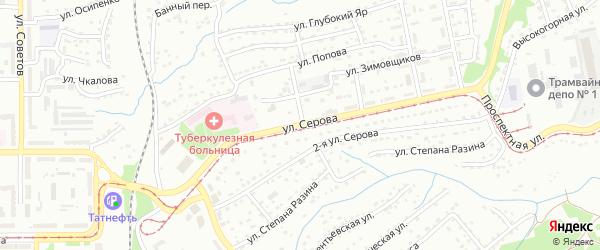 Улица Серова на карте Прокопьевска с номерами домов