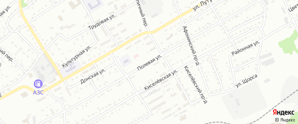 Полевая улица на карте Киселевска с номерами домов