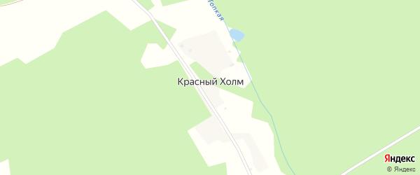 Озерная улица на карте поселка Красного Холма Кемеровской области с номерами домов