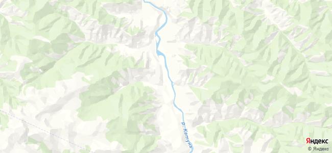 Инегень на карте