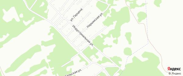 Янтарная улица на карте Киселевска с номерами домов