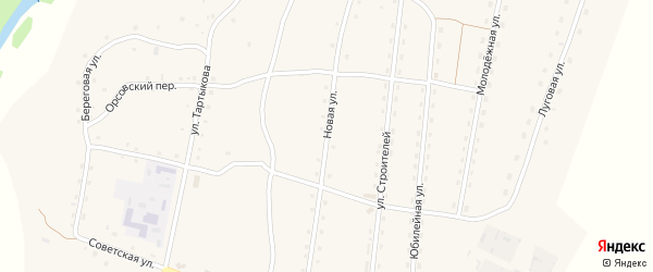Новая улица на карте села Каракокши Алтая с номерами домов