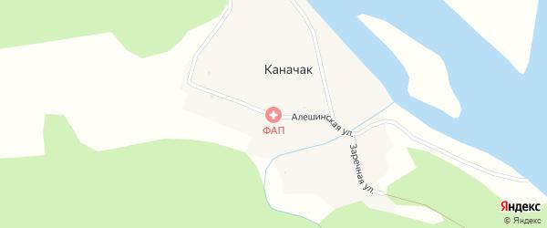 Алешинская улица на карте села Каначака Алтая с номерами домов