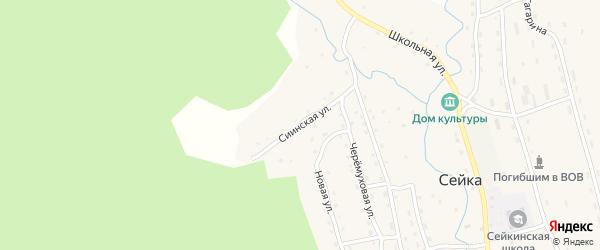 Сиинская улица на карте села Сейка Алтая с номерами домов