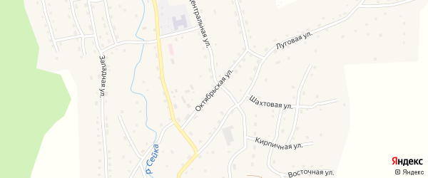Октябрьская улица на карте села Сейка Алтая с номерами домов