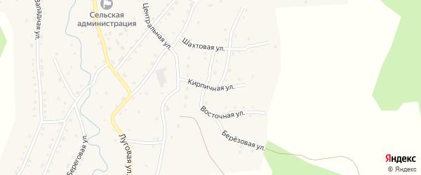 Кирпичная улица на карте села Сейка Алтая с номерами домов