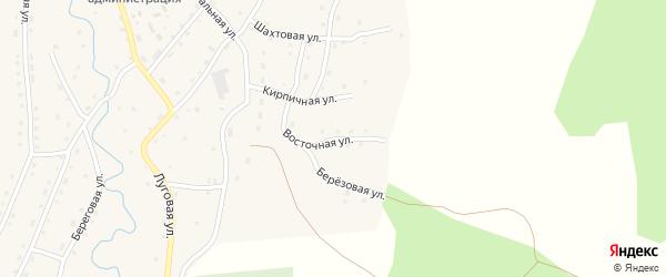 Восточная улица на карте села Сейка Алтая с номерами домов
