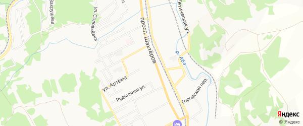 Территория Черных на карте Прокопьевска с номерами домов