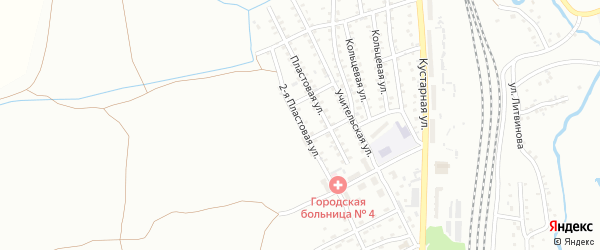 2-я Пластовая улица на карте Прокопьевска с номерами домов
