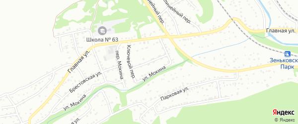 Лужниковая улица на карте Прокопьевска с номерами домов