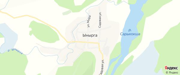 Карта села Ынырги в Алтае с улицами и номерами домов