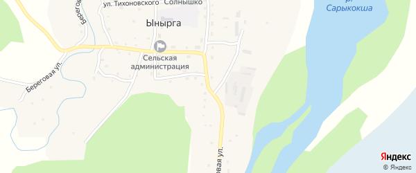 Садовая улица на карте села Ынырги Алтая с номерами домов