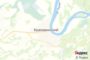Карта пос. Крапивинский Кемеровская область