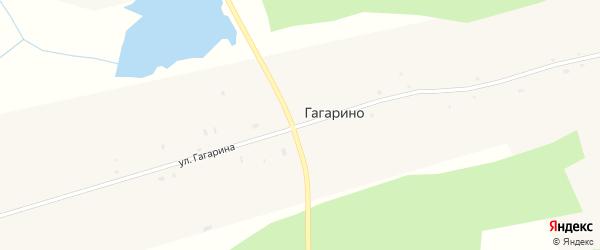 Улица Гагарина на карте села Гагарино Томской области с номерами домов