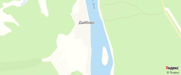 Карта села Дайбово в Алтае с улицами и номерами домов