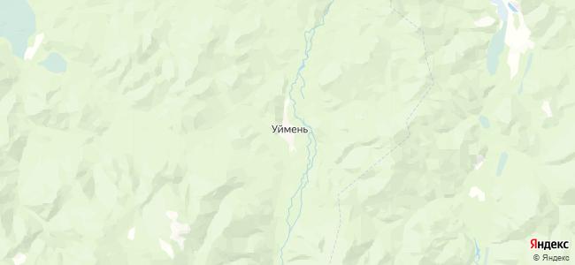 Уймень на карте