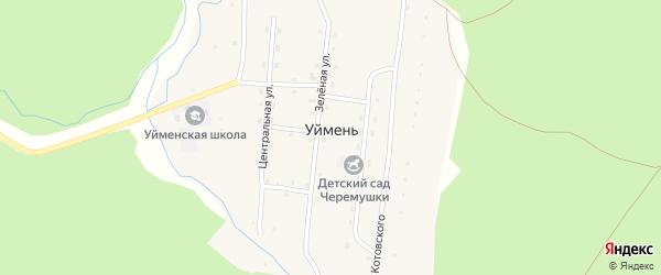 Территория Урочище Уймень на карте села Уймень Алтая с номерами домов
