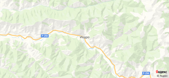 Иодро на карте