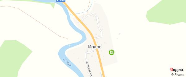 Центральная улица на карте села Иодра Алтая с номерами домов