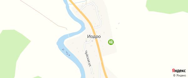 Родниковая улица на карте села Иодра Алтая с номерами домов