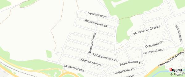 Ельцовская улица на карте Новокузнецка с номерами домов