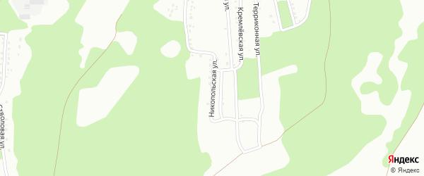 Никопольская улица на карте Новокузнецка с номерами домов
