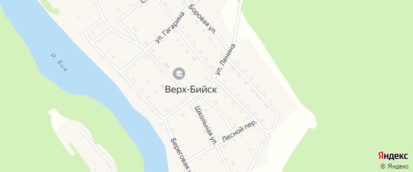 Улица Ленина на карте села Верха-Бийска Алтая с номерами домов