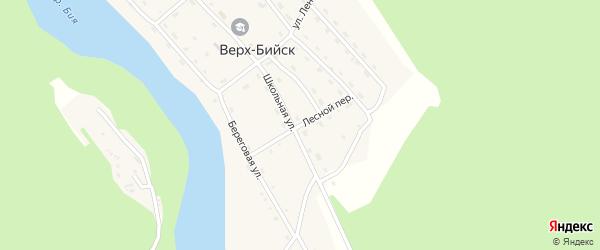 Лесная улица на карте села Верха-Бийска Алтая с номерами домов