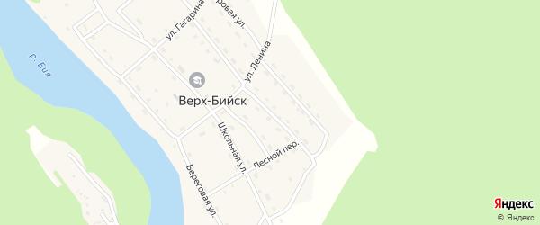 Рабочая улица на карте села Верха-Бийска Алтая с номерами домов