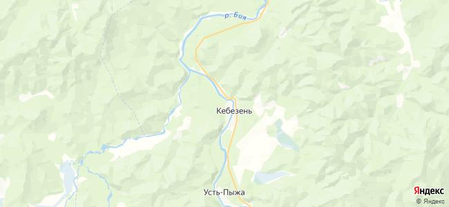 Старый Кебезень на карте
