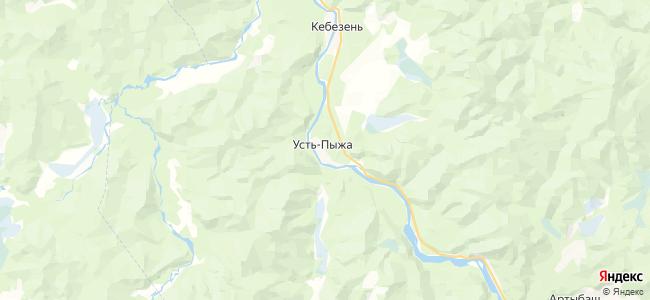 Усть-Пыжа на карте