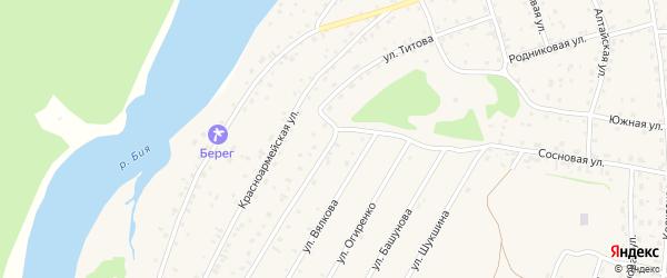 Улица Титова на карте села Турочак Алтая с номерами домов