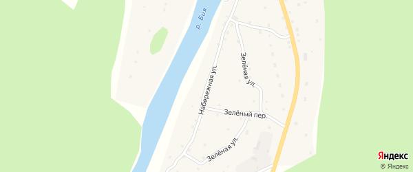 Набережная улица на карте села Кебезени Алтая с номерами домов