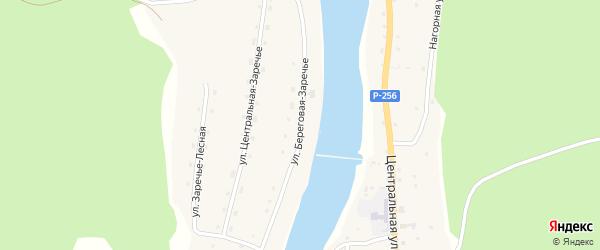 Береговая улица на карте села Кебезени Алтая с номерами домов