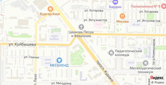 Проспект Курако в Новокузнецке с номерами домов на карте. Спутник и схема онлайн