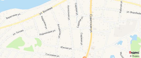 Родниковая улица на карте села Турочак Алтая с номерами домов