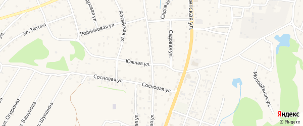 Колхозная улица на карте села Турочак Алтая с номерами домов