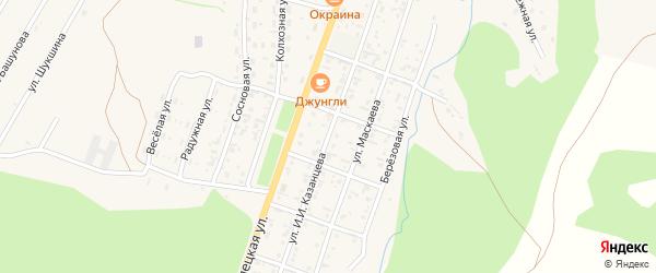 Улица Им И.И.Казанцева на карте села Турочак Алтая с номерами домов