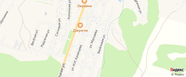 Улица Маскаева на карте села Турочак Алтая с номерами домов