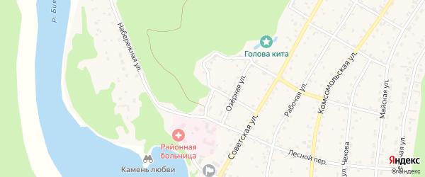 Северный переулок на карте села Турочак Алтая с номерами домов
