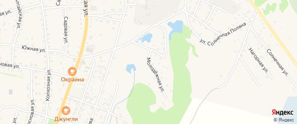 Молодежная улица на карте села Турочак Алтая с номерами домов