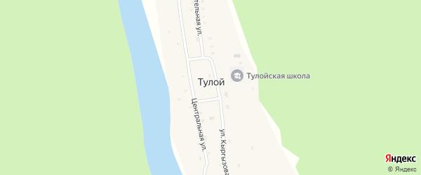 Береговая улица на карте села Тулой с номерами домов