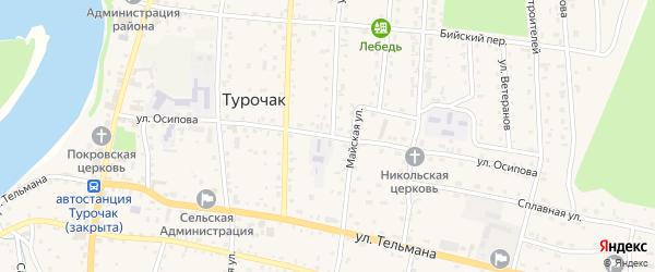 Улица Осипова на карте села Турочак Алтая с номерами домов