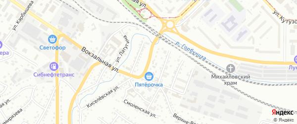 2-й Андреевский переулок на карте Куйбышевского района с номерами домов