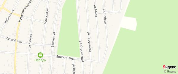 Улица Трофимова на карте села Турочак Алтая с номерами домов