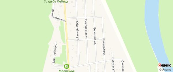 Покровская улица на карте села Турочак Алтая с номерами домов