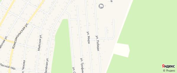 Улица Мира на карте села Турочак Алтая с номерами домов