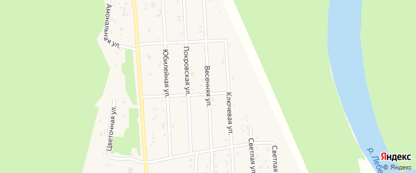Весенняя улица на карте села Турочак Алтая с номерами домов